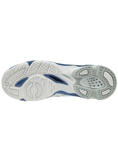 Mizuno Wave Voltage Unisex Voleybol Ayakkabısı Beyaz / Mavi Beyaz